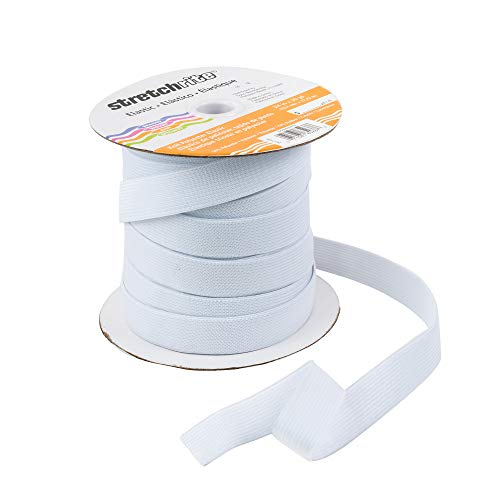 (Stretchrite Knit Polyester Elastic Spool, 3/4-Inch by 30-Yards, White)