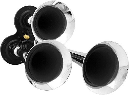 Vixen Horns Loud 135dB 3/Triple Chrome Trumpet Train Air Horn with 1 Gallon Tank and 150 PSI Compressor Full/Complete Onboard System/Kit VXO8410/3311C by Vixen Horns (Image #3)