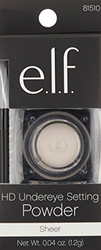 41KteMnyK9L e.l.f. HD Undereye Concealer Setting Powder with Brush, Sheer, 0.04 Ounce