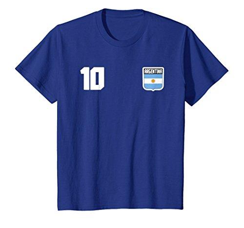 Argentine T-shirt Argentinian Flag Soccer Futbol Fan Jersey