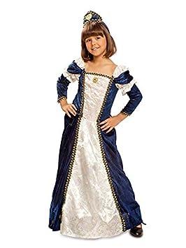 DISBACANAL Disfraz Doncella Medieval para niña - -, 7-9 años ...