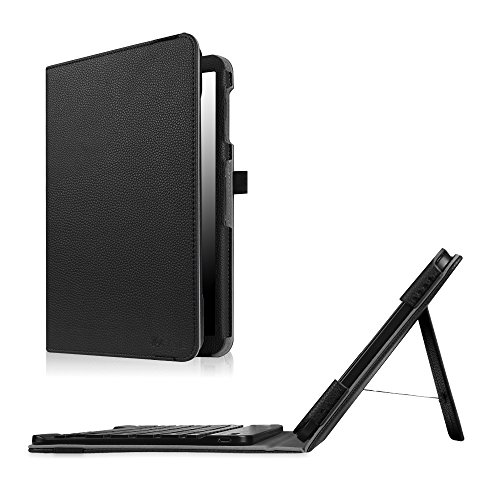 Fintie Keyboard Case for Samsung Galaxy Tab A 10.1 (2016 No S Pen Version), Slim Fit Folio PU Leather Case with Detachable Magnetical Bluetooth Keyboard for Tab A 10.1 (T580/T585/T587), Black (Samsung Galaxy Tab 3 10.1 Best Price)