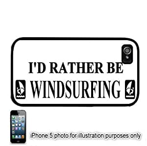 I'd Rather Be Windsurfing Apple ipod touch4 Hard Back Case Cover Skin Black FITS FOR