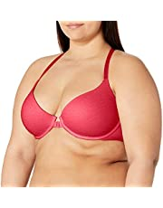 Undies.com Women's Front Closure T Shirt Bra for All Day Comfort With Plush Underwire & Adjustable T Back Straps