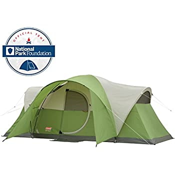 Amazon Com Coleman 8 Person Red Canyon Tent Black