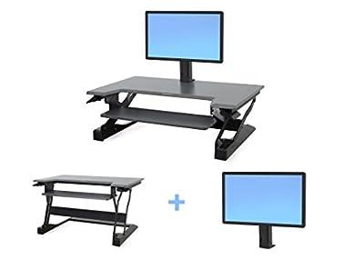 Ergotron WorkFit Bundle WorkFit-T with Single Monitor Mount Standing Desk Black