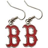 MLB Boston Red Sox Womens Team Logo Dangle Earrings
