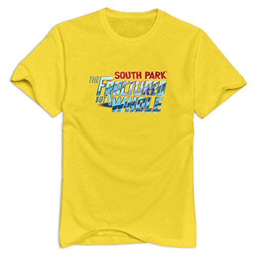 The Fractured But Whole Cute Short Sleeve Yellow Shirts For Guys Size L