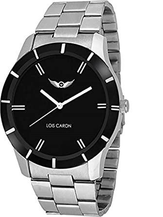 54a57e01590 Buy Lois Caron Analog Black Dial Men s Watch - (Lcs-4091) Online at Low  Prices in India - Amazon.in