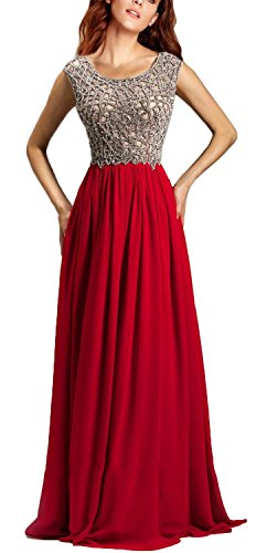Rongstore® Women's Elegant A Line Chiffion Long Evening Gown