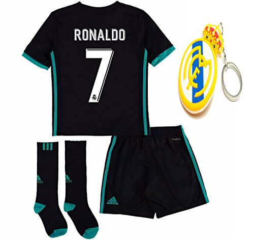 Jersey Kit (Real Madrid Youth Kid Cristiano Ronaldo 2017 2018 17 18 Soccer Away Jersey Kit : Jersey, Short, and Socks(Kid Size 26 (9-10 Years Old) ))