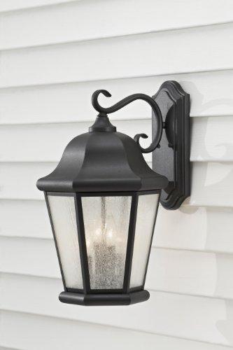 Sea Gull Lighting OL5904BK Martinsville Extra Large Four Light Outdoor Wall Lantern, - Outdoor Lantern Martinsville
