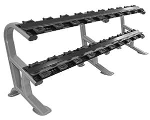 ovalada de Line CHD Heavy Duty Repisa en calidad de estudio–Mancuernas/Rack Para hasta 10pares de mancuernas BCA 119