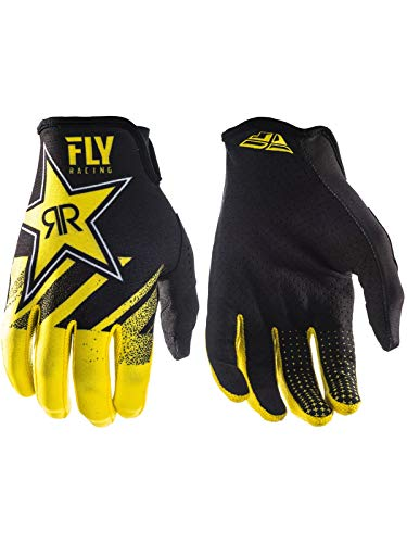 - Fly Racing Men's Lite Rock Star Gloves Yellow/Black Size 9