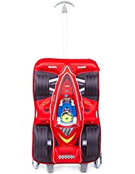 Childrens Luggage Set with Wheels Kids Trolley 3D Hard Shell Suitcase Carryon for School Boys Girls - Racing Car