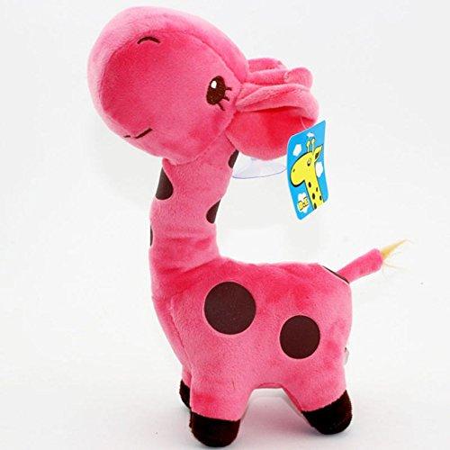 "Cuddly and lovely Giraffe soft plush toy 10"" Stuffed Animal Doll Baby Birthday Party Valentine's Day Gift - pink"
