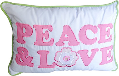 Gracie Girl's Decorative Accent Throw Pillow - White Pink