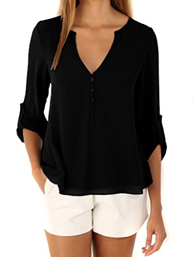 Choies Womens V Neck Button Detail