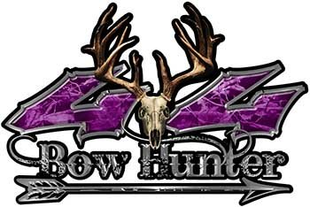 Weston Arrow - REFLECTIVE Bow Hunter Twisted Series 4x4 Truck Decal Kit with Arrow in Purple Camouflage