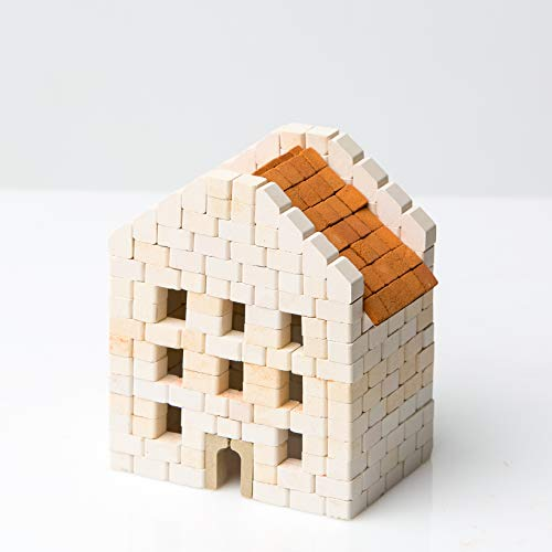 Wise Elk Toy House construction set, real ceramic bricks, gypsum...