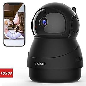 Victure Caméra de Surveillance,1080P Caméra WiFi sans Fil, Caméra Dome IP Intérieur, Vision Nocturne, Détection de Mouvement, 2 Way Audio, Pan/Tilt/Zoom pour Bébé/Aîné/Animal 5
