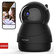 #LightningDeal Victure 1080P FHD WiFi IP Camera Indoor Wireless Security Camera Motion Detection Night Vision Home Surveillance Monitor 2-Way Audio Baby/Pet/Elder