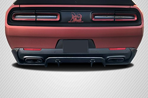 (Carbon Creations ED-NRH-262 Circuit Rear Diffuser - 3 Piece (can be used with Hellcat Look Rear Bumper) Body Kit - Compatible For Dodge Challenger 2015-2018)