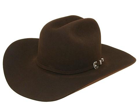 (Resistol Men's George Strait 6X City Limits Fur Felt Western Hat Chocolate 7 1/2 )