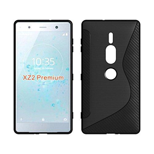 For Sony Xperia XZ2 Premium Case - Black Shockproof Silicone TPU Case Skin Cover Anti-Drop Soft TPU Full Coverage Clear Transparent Soft Slim Protective Skin For Sony Xperia XZ2 Premium