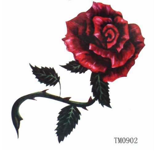GGSELL King Horse Sexy red waterproof rose tattoo stickers