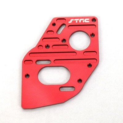 ST Racing Concepts STC91018R Aluminum Heatsink Finned Motor Plate SC10 4 x 4, Red