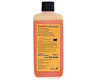 Kodak Indicator Stop Bath For Black and White Films And Papers, 1-Pint Bottle To Make 8-Gallons. by Kodak