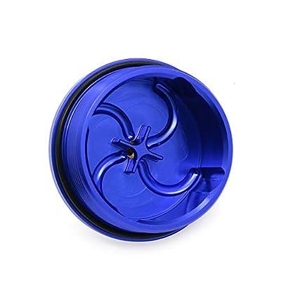Cosmoska Blue Aluminum Fuel Filter Cap w/Pressure Port For Ford Powerstroke 6.0L 2003-2007: Automotive