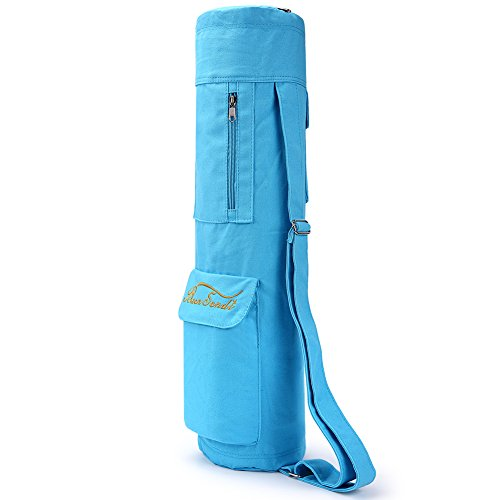 - Baen Sendi Yoga Mat Bag with Expandable Pocket,Best Bags for Yogo Mats, Yoga Strap and Exercise Mat (Blue)