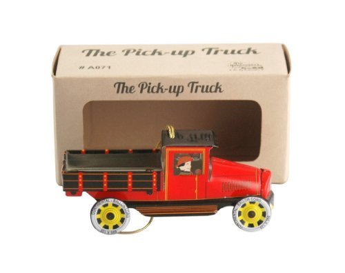 tin toy Vintage pickup truck christmas ornament collectible by Karmakara