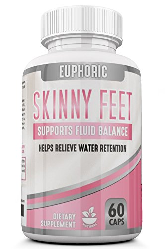 Skinny Feet: Edema Swollen Ankle Legs Supplement Reduces swelling Bloating Natural Water Pill Diuretic Helps Relieve Achy swelling on the Legs Feet Calves Hands