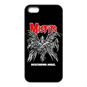 Gators Florida USA-2 Music Band The Misfits Print Black Case With Hard Shell Cover for Apple iPhone 5