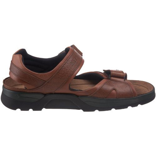 Mephisto Chestnut Grain Shark Waxy Tan Sandal Fit Men's rvxTwHqzr