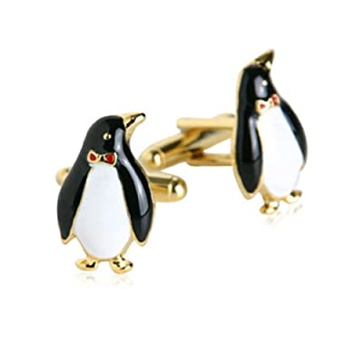 Gold Penguin Cufflinks By Jewelry Mountain