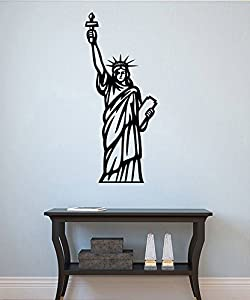 Statue Of Liberty Wall Sticker Lady Liberty Vinyl Decal Cityscape Wall  Decor Wall Art Decorations (6sely) Part 66