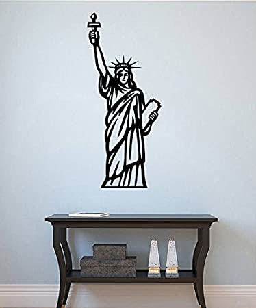 Statue Of Liberty Wall Sticker Lady Liberty Vinyl Decal Cityscape Wall  Decor Wall Art Decorations (