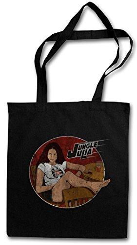 JUNGLE JULIA VINTAGE Hipster Shopping Cotton Bag Borse riutilizzabili per la spesa - Quentin Death Grindhouse Film A prova Stuntman Tarantino di morte Proof Mike