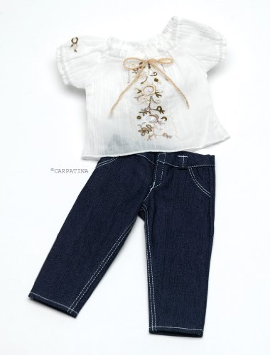 Chic Jeans & Peasant Blouse - Fits 18