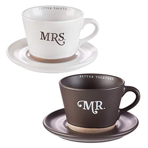 Better Together - Mr. & Mrs. Coffee Mug & Saucer Set, Better Together Collection]()