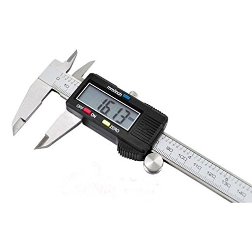 Yvonne Electronic Digital Vernier Caliper, 0-150MM/0-6inch Vernier Caliper Gauge Micrometer with Extra-Large LCD Screen and Depth Measuring Rod, Stainless Steel Measuring Tool by Yvonne