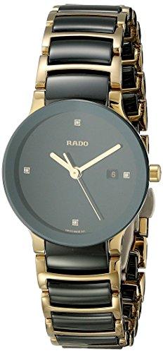 Rado Women's R30930712 Centric Jubile Two Tone Black Ceramic Bracelet Watch
