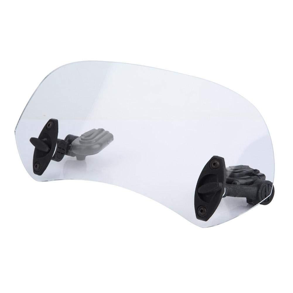 Transparent Universal Adjustable Motorcycle Modified Windscreen Windshield Spoiler Air Deflector Aramox Windshield