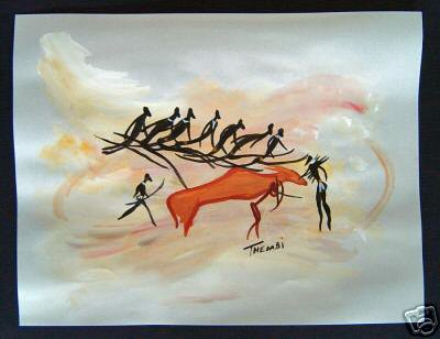 (Untitled [Original Painting After African Rock Art])