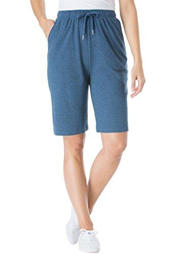 Women's Plus Size Sport Knit Short Heather ()