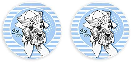 Vector White Dog Hat Airedale Sea Opener 2 Piezas Abridor de botellas Nevera Abridor de botellas de cerveza magnético